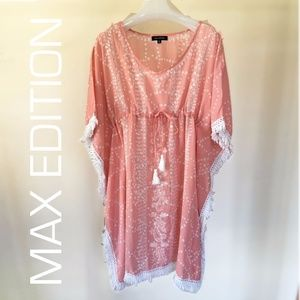 Max Edition Cotton Kaftan Cover Up Tunic Dress M